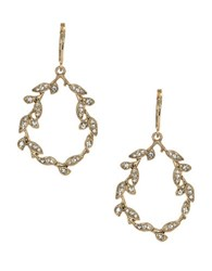 Lonna And Lilly Crystal Leaf Drop Earrings Silver