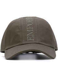Emporio Armani Embroidered Logo Baseball Cap Grey