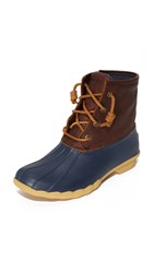 Sperry Saltwater Thinsulate Booties Tan Navy