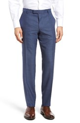 Boss Men's T Court Flat Front Solid Wool Trousers