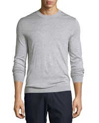 Theory Berthes Admiral Cashmere Blend Crewneck Sweater Gray Men's