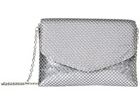 Jessica Mcclintock Brooklyn Flap Clutch Silver Clutch Handbags