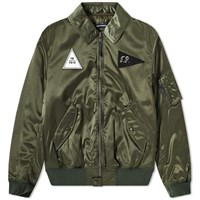 Gosha Rubchinskiy Ma 1 Patch Bomber Jacket Green