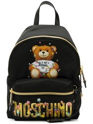 Moschino Teddy Holiday Backpack Black