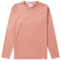 Norse Projects Long Sleeve Esben Blind Stitch Tee Pink