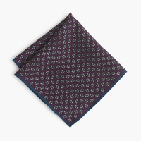 J.Crew Italian Wool Pocket Square In Aubergine Foulard Dark Aubergine