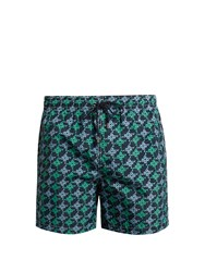 Le Sirenuse Positano Mermaid Pinwheel Print Swim Shorts Navy Multi