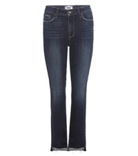 Paige Jacqueline High Rise Straight Crop Jeans Blue