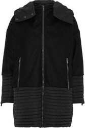 Fusalp Alba Shell Paneled Wool And Cashmere Blend Hooded Down Jacket Black