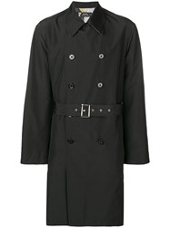 Versace Collection Belted Trench Coat Grey