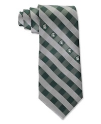 Eagles Wings Michigan State Spartans Checked Tie Team Color