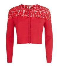 Giambattista Valli Macrame Lace Cardigan Female Red