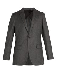 Kilgour Single Breasted Wool And Cashmere Blend Blazer Grey