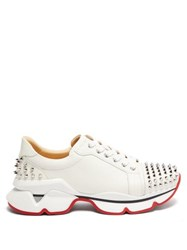 Christian Louboutin Vrs 2018 Studded Low Top Leather Trainers White