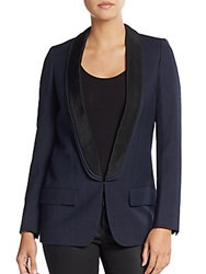 Stella Mccartney Tuxedo Suit Jacket Night Blue