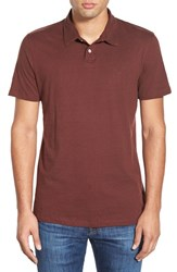 Men's Volcom 'Wowzer' Jersey Polo Cherrywood