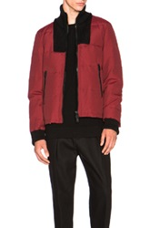 Maison Martin Margiela Maison Margiela Ottoman Cotton Nylon Jacket In Red