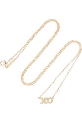 Jennifer Meyer Xo 18 Karat Gold Necklace