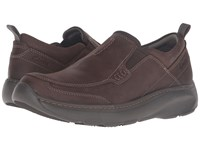 Clarks Charton Step Brown Nubuck Men's Slip On Shoes