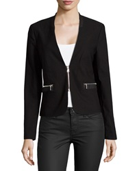 Dex Snake Embossed Trim Blazer Black