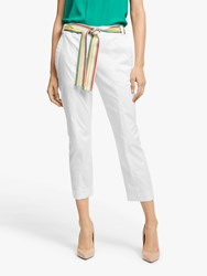 Marella Sequoia Belted Crop Trousers White