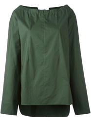 Marni Drawstring Neck Blouse Green