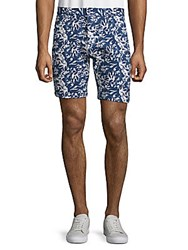 Slate And Stone Floral Print French Terry Shorts Indigo