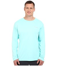 Columbia Big Tall Pfg Zero Rules L S Shirt Gulf Stream Men's Long Sleeve Pullover Blue