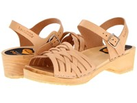 Swedish Hasbeens Braided Low Nature Women's Sandals Neutral