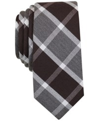 Bar Iii Men's Coconino Plaid Tie Only At Macy's Brown