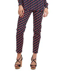Trina Turk Printed Straight Leg Ankle Pants Pink Multi