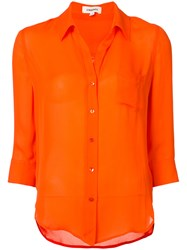 L'agence Casual Shirt Women Silk M Yellow Orange