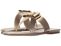 Cole Haan Tali Bow Sandal Soft Gold Patent Women's Sandals