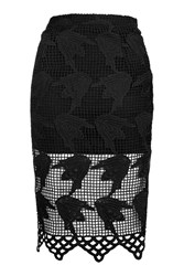 Glamorous Crochet Midi Skirt By Black