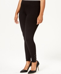 Style And Co. Plus Size Studded Zip Cuff Leggings Only At Macy's