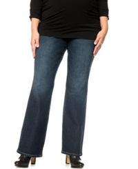 Motherhood Maternity Plus Size Bootcut Maternity Jeans Midnight Wash