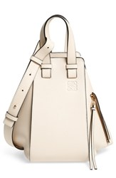 Loewe Small Hammock Tricolor Pebbled Leather Hobo Ivory