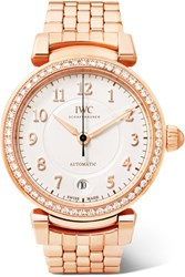 Iwc Schaffhausen Da Vinci Automatic 36 18 Karat Red Gold Diamond Watch Rose Gold