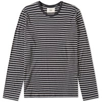 Folk Long Sleeve Stripe Tee Grey