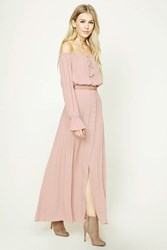 Forever 21 Button Front Maxi Skirt