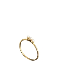 Asos Limited Edition Faux Pearl Bar Fine Ring Cream