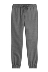 Michael Kors Collection Wool Flannel Sweatpants Grey