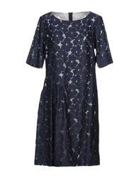 Gigue Short Dresses Dark Blue