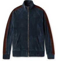 Fanmail Organic Cotton Velour Track Jacket Blue
