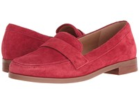 Franco Sarto Valera Red Suede Women's Slip On Dress Shoes