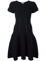 Antonio Berardi Studded Short Sleeve Dress Black