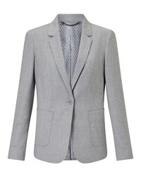 Jigsaw Wool Flannel London Jacket Light Grey