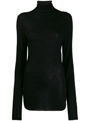 Ann Demeulemeester Turtleneck Slim Fit Jumper Black