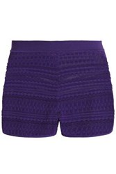 Missoni Jacquard Knit Shorts Purple