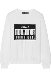 Brian Lichtenberg Homies Advisory Cotton Blend Top White